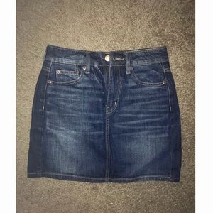 NWOT highest rise mini denim skirt from ae